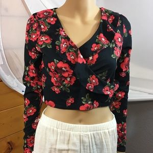 Forever 21 JR. Cropped Top L Ruffled NWT